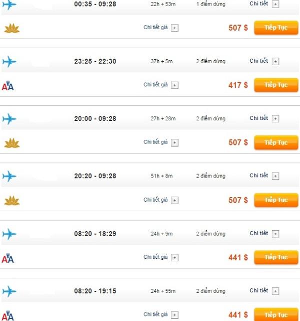 Bảng giá vé máy bay đi Seattle