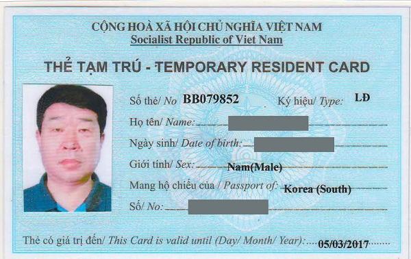 Kết quả hình ảnh cho nơi cấp thẻ tạm trú cho người nước ngoài